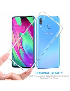 Ntech Ntech Samsung Galaxy A40 TPU Back hoesje - Transparant