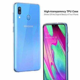 Ntech Ntech Samsung Galaxy A40 Hoesje Durable Flexible & Scratch Resistent Clear TPU Case - Transparant