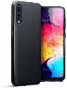 Ntech Ntech Hoesje Silicone Hoesje Flexibel & Scratch Resistent TPU Case Samsung Galaxy A70/A70s - Zwart