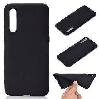 Ntech Ntech Hoesje Silicone Hoesje Flexible & Scratch Resistent TPU Case Samsung Galaxy A70 - Zwart