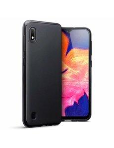 Ntech Ntech Hoesje Silicone Hoesje Flexibel & Scratch Resistent TPU Case Samsung Galaxy A10 - Zwart