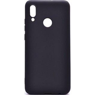 Ntech Ntech Hoesje Silicone Hoesje Flexible & Scratch Resistent TPU Case Huawei Y6 (2019) - Zwart