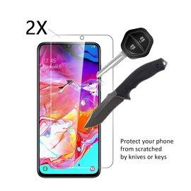 Ntech Ntech 2 Stuks Screenprotector Tempered Glass Glazen Gehard Screen Protector 2.5D 9H (0.3mm) - Samsung Galaxy A70