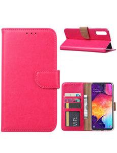 Ntech Ntech Portemonnee hoesje met Pasjesruimte voor Samsung Galaxy A70/A70s - Roze