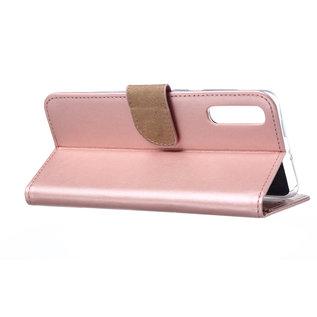 Ntech Ntech Portemonnee hoesje / met Opbergvakjes & Magneetflapje voor Samsung Galaxy A70 - Rose Goud
