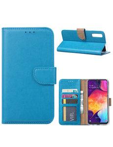 Ntech Ntech Portemonnee hoesje met Pasjesruimte voor Samsung Galaxy A70/A70s - Blauw
