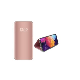 Ntech Ntech New Style LED Flip Cover Hoesje voor Samsung Galaxy A70 - Rose Goud