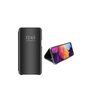 Ntech Ntech New Style LED Flip Cover Hoesje voor Samsung Galaxy A70 - Zwart
