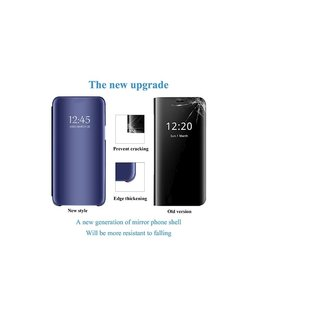 Ntech Ntech New Style LED Flip Cover Hoesje voor Samsung Galaxy A70 - Blauw
