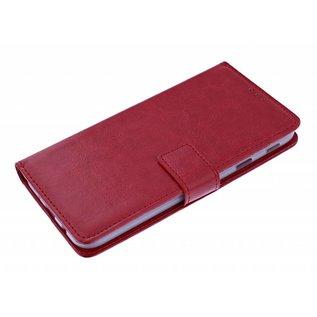 Ntech Ntech Luxe Boektype / Portemonnee met Pasjes houder & Magneetsluiting Rood - Huawei P30