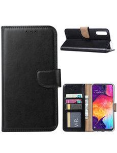 Ntech Ntech Portemonnee Hoesje voor Samsung Galaxy A40 - Zwart