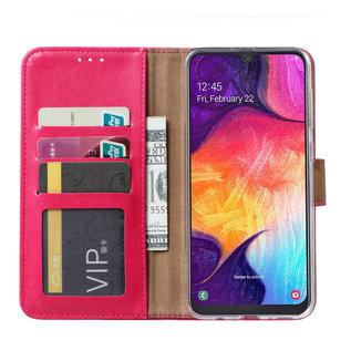 Ntech Ntech Portemonnee Hoes / met Opbergvakjes & Magneetflapje voor Samsung Galaxy A40 - Roze