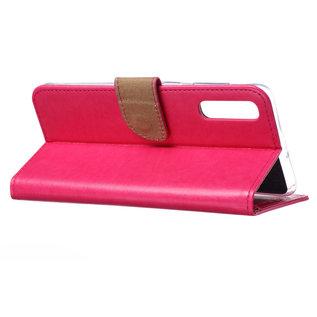 Ntech Ntech Portemonnee hoesje / met Opbergvakjes & Magneetflapje voor Samsung Galaxy A40 - Roze