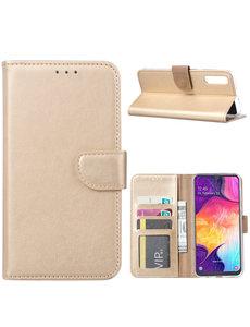 Ntech Ntech Portemonnee Hoesje voor Samsung Galaxy A40 - Goud