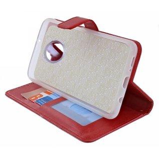 Ntech Ntech Luxe Boektype / Portemonnee met Pasjes houder & Magneetsluiting Rood - Nokia 9 Pureview