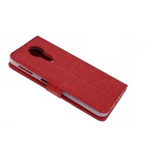 Ntech Ntech Luxe Boektype / Portemonnee met Pasjes houder & Magneetsluiting Rood - Motorola Moto G7 Play
