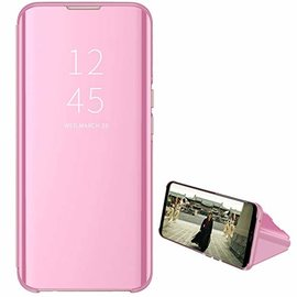 Ntech Ntech New Style LED Flip Cover Hoesje voor Samsung Galaxy A40 - Rose Goud