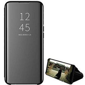 Ntech Ntech New Style LED Flip Cover Hoesje voor Samsung Galaxy A40 - Zwart