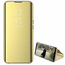 Ntech Ntech New Style LED Flip Cover Hoesje voor Samsung Galaxy A40 - Goud
