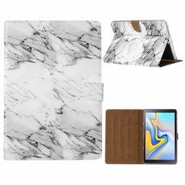 "Ntech Ntech Samsung Galaxy Tab A 10.1"" SM T580/T585 Marmer Design Booktype Kunstleer Hoesje"