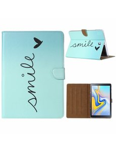 "Ntech Ntech Samsung Galaxy Tab A 10.1"" SM T580 / T585 Smile Design Booktype Kunstleer Hoesje"
