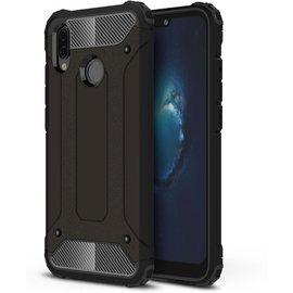 GSM- hoesje Armor Hybrid Hoesje Huawei P20 Lite - Zwart