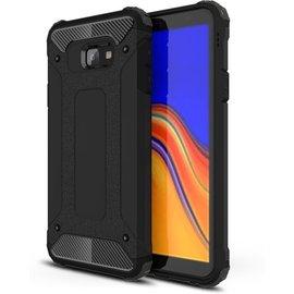 GSM- hoesje Armor Hybrid Samsung Galaxy J4 Plus Hoesje - Zwart