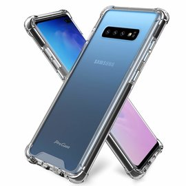 Ntech Ntech Samsung Galaxy S10 Smokey Anti Burst Hoesje / Shock Proof Crystal Clear TPU Case - Transparent