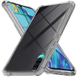 Ntech Ntech Huawei P30 Smokey Anti Burst Hoesje / Shock Proof Crystal Clear TPU Case - Transparent