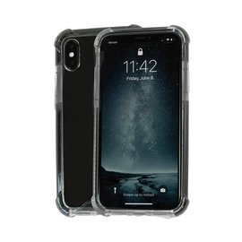 Ntech Ntech Apple iPhone Xs Max Smokey Anti Burst Hoesje / Shock Proof Crystal Clear TPU Case - Transparent