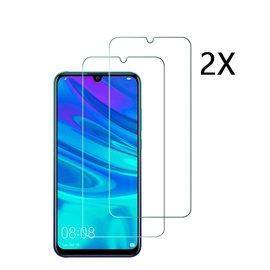 Ntech Ntech 2 Stuks Screenprotector Tempered Glass Glazen Screen Protector voor Huawei P Smart Plus (2019)