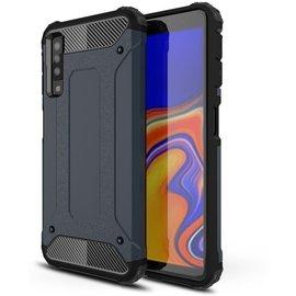 GSM- hoesje Armor Hybrid Samsung Galaxy A7 (2018) Hoesje - Blauw