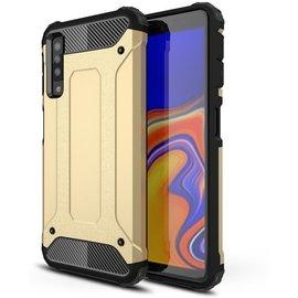 GSM- hoesje Armor Hybrid Samsung Galaxy A7 (2018) Hoesje - Goud