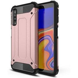 GSM- hoesje Armor Hybrid Samsung Galaxy A7 (2018) Hoesje - Rose Gold