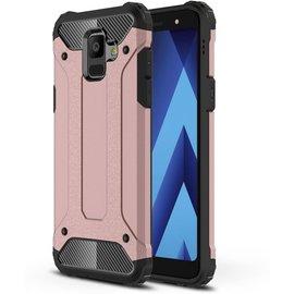 GSM- hoesje Armor Hybrid Hoesje Samsung Galaxy A6 (2018) - Rose Gold