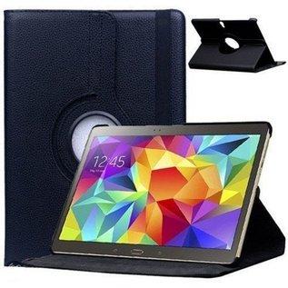 Merkloos Samsung Galaxy Tab S 10.5 inch T800 / T805 Tablet hoesje Cover 360 graden draaibare Case Beschermhoes Zwart