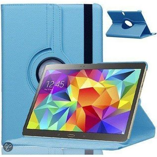 Merkloos Samsung Galaxy Tab S 10.5 inch T800 / T805 Tablet Hoes Cover 360 graden draaibare Case Beschermhoes Licht blauw