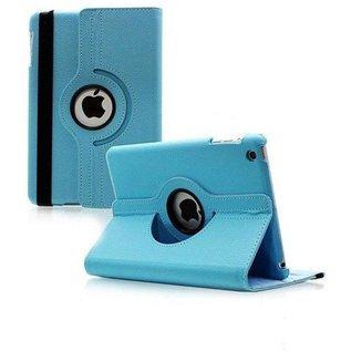 Merkloos Apple iPad Mini / Mini 2 / Mini 3 Case 360° draaibare Hoes Cover met Multi-stand Blauw