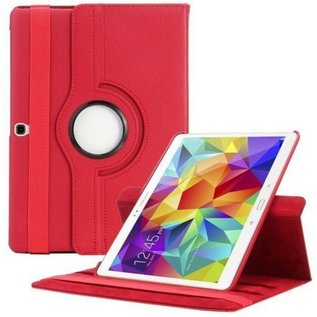 Merkloos Samsung Galaxy Tab S 10.5 inch (T800 / T805) Tablet Hoes 360° draaibare Case Cover kleur Rood