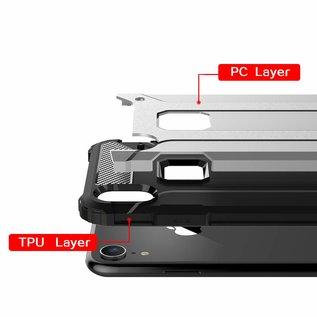 Ntech Ntech iPhone Xr Dual layer Rugged Armor hoesje /  Hard PC & TPU Hybrid case - Rose Goud