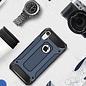 Ntech Ntech iPhone Xr Dual layer Rugged Armor hoesje /  Hard PC & TPU Hybrid case - Blauw