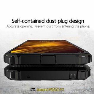 Ntech Ntech Xiaomi Pocophone F1 Dual layer Rugged Armor hoesje / Hard PC & TPU Hybrid case - Rose Goud