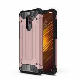 Ntech Ntech Xiaomi Pocophone F1 Dual layer Rugged Armor hoesje / Hard PC & TPU Hybrid case - Rose Goud