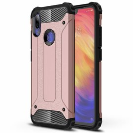 Ntech Ntech Xiaomi Note 7 Dual layer Rugged Armor hoesje / Hard PC & TPU Hybrid case - Rose Goud