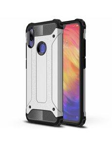 Ntech Ntech Xiaomi Note 7 Dual layer Armor Hoesje - Zilver