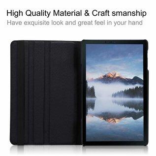 """Ntech Ntech Samsung Galaxy Tab A 10.1"""" SM T510 / T515 2019 Tablet Hoesje met 360° draaistand - Zwart"""