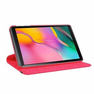 "Ntech Ntech Samsung Galaxy Tab A 10.1"" SM T510 / T515 2019 Tablet Hoesje met 360° draaistand - Rood"