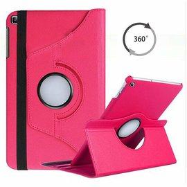 "Ntech Ntech Samsung Galaxy Tab A 10.1"" SM T510 / T515 2019 Tablet Hoesje met 360° draaistand - Roze/Pink"