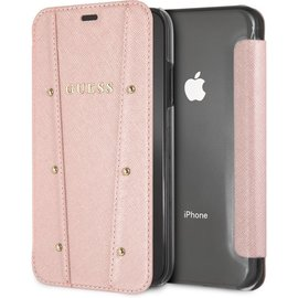 "Guess Guess Kaia Book Case voor Apple iPhone XR (6.1"") - Roségoud"
