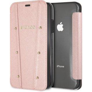 "Guess Guess Kaia Book Case voor Apple iPhone XR (6.1"") - Roségoud"